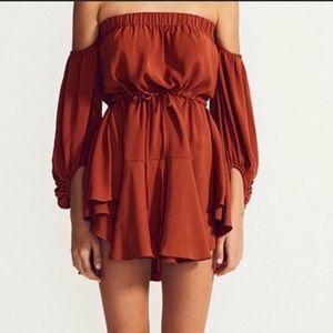 NWT Shona Jay off shoulder mini dress